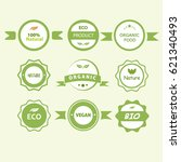 icons nature product set  vegan.... | Shutterstock .eps vector #621340493