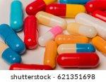 different tablets pills capsule ... | Shutterstock . vector #621351698