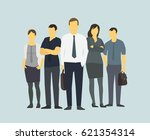 successful team leader.... | Shutterstock .eps vector #621354314