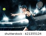 Beautiful Sport Woman Tennis...
