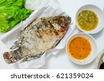 Tilapia Fish Grilled With Salt...