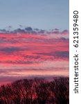 deep pink and blue sunset sky...   Shutterstock . vector #621359480