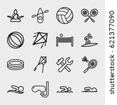 activity icon. set of 16... | Shutterstock .eps vector #621377090