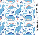 vector seamless pattern with... | Shutterstock .eps vector #621378170