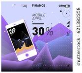 vector illustration mobile apps ... | Shutterstock .eps vector #621382358