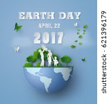 concept of eco and earth day... | Shutterstock .eps vector #621396179
