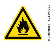 icon danger fire risk. fire on... | Shutterstock .eps vector #621397310