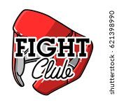 color vintage fight club emblem | Shutterstock .eps vector #621398990