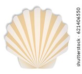 shells in beige tones vector... | Shutterstock .eps vector #621406550