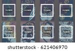 template brochures flower   Shutterstock .eps vector #621406970