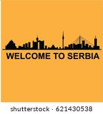 welcome to serbia | Shutterstock .eps vector #621430538