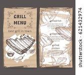 vintage grill restaurant menu... | Shutterstock .eps vector #621432974