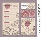 set of bakery shop templates...   Shutterstock .eps vector #621433028