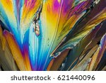colorful micro crystals of... | Shutterstock . vector #621440096