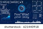 futuristic user interface for... | Shutterstock .eps vector #621440918