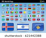 flag icons of the world with... | Shutterstock .eps vector #621442388