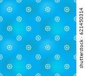 hand drawn octagonal flower in... | Shutterstock .eps vector #621450314