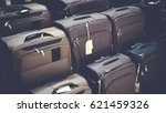 vintage style of travel bags or ... | Shutterstock . vector #621459326