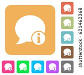 blog comment info flat icons on ... | Shutterstock .eps vector #621462368