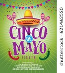 cinco de mayo poster or... | Shutterstock .eps vector #621462530