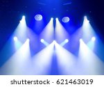 scene  stage light with colored ... | Shutterstock . vector #621463019