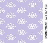 white lotus on a light purple... | Shutterstock .eps vector #621464513