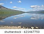mountain lake in the putorana... | Shutterstock . vector #621467753