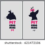 logo for dog hair salon. pet... | Shutterstock . vector #621472106