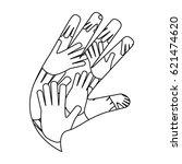 human hands symbol | Shutterstock .eps vector #621474620