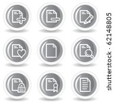 document web icons set 2 ... | Shutterstock .eps vector #62148805