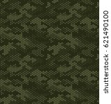camouflage pattern background... | Shutterstock .eps vector #621490100