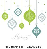 vintage card with christmas... | Shutterstock .eps vector #62149153