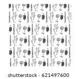 herbarium. vintage style.... | Shutterstock .eps vector #621497600