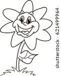 coloring page outline of... | Shutterstock .eps vector #621499964