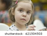 portrait of a european girl of... | Shutterstock . vector #621504503