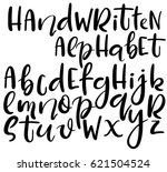 vector handwritten brush... | Shutterstock .eps vector #621504524