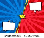 comic book versus fight intro... | Shutterstock .eps vector #621507908