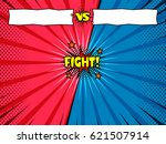 superhero versus fight intro... | Shutterstock .eps vector #621507914