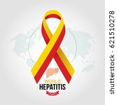 world hepatitis day design... | Shutterstock .eps vector #621510278