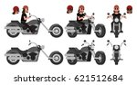 biker. a motorcyclist and his... | Shutterstock .eps vector #621512684