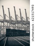 seattle  wa   aug 14  crane... | Shutterstock . vector #621517493