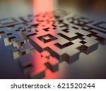 3d illustration. quick response ... | Shutterstock . vector #621520244
