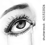 eye and tear | Shutterstock . vector #621522026