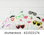 greeting card for carnival... | Shutterstock . vector #621522176