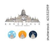 borobudur temple | Shutterstock .eps vector #621522959