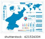 north korea map and... | Shutterstock .eps vector #621526334