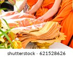 monks requiem for the funeral... | Shutterstock . vector #621528626