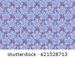 raster floral. various white ... | Shutterstock . vector #621528713