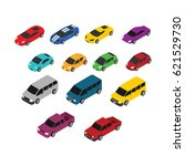 car 3d design vector | Shutterstock .eps vector #621529730
