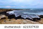 coastal landscape of cyprus.... | Shutterstock . vector #621537920